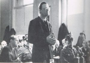 Alfred Delp before the People's Court, January 9, 1945