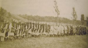 The monks going out to the fields in August, 1898